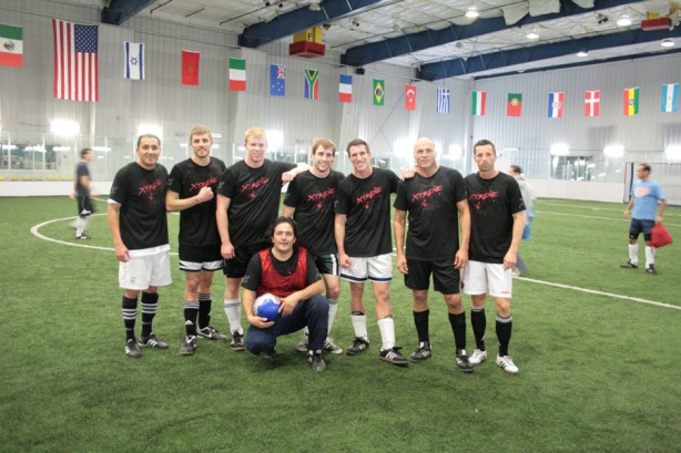 Xtreme Couture Soccer Team - Posing after winning their first match of the season