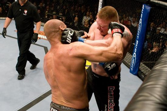 Randy Couture vs. Brock Lesner at UFC 91 - photo by UFC.com